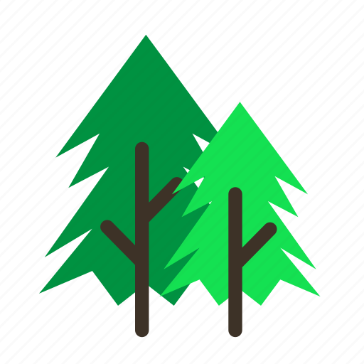 forestry, forrest, old, pine, tree, trees, young icon