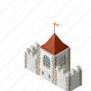 fort, fortress, impregnable, protection, secure, security, wall icon