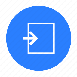 come in, door, inside, login, security, sign in icon