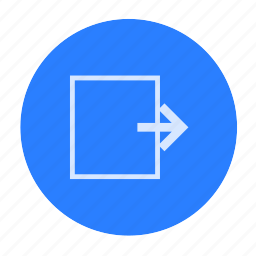 door, go out, key, logout, out icon