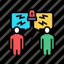 conflict, forum, online, people, meeting, business