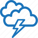 cloud, cloudy, lightning, rain, weather icon