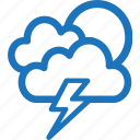 bad weather, cloud, cloudy, lightning, sunset, weather icon