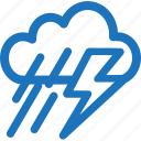 cloudy, lightning, rain, rainy, weather, winter icon