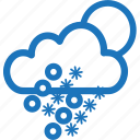 christmas, forecast, freezing, sleet, snow, weather, winter icon