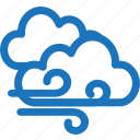 cloud, cloudy, storm, weather, wind, windy icon