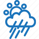 cloud, cloudy, rain, rainy, sunset, weather icon