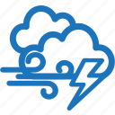 cloud, cloudy, lightning, storm, weather icon
