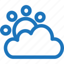 cloud, cloudy, sun, sunset, weather icon