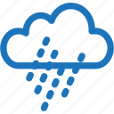 cloud, cloudy, cold, drizzling, rain, weather, winter icon