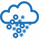 forecast, freezing, sleet, snow, snowy, weather, winter icon