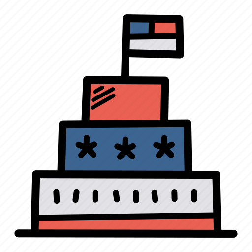 american, cake, celebrate, flag, independence day, july 4, united states icon