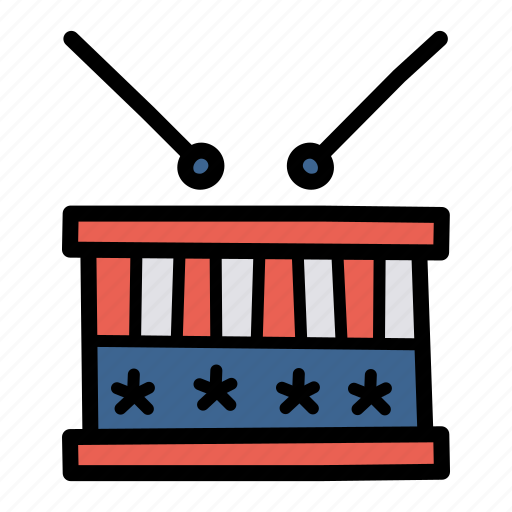 american, celebrate, drums, independence day, july 4, music, parade icon