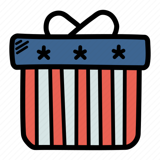 america, american, celebrate, gift, independence day, july 4, present icon