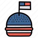 american, burger, celebration, flag, hamburger, independence day, july 4 icon