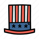 america, american, celebrate, fourth of july, hat, independence day, july 4 icon