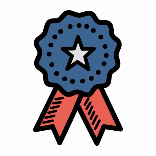 america, american, independence day, july 4, medal, patriot, ribbon icon