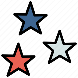 america, american, celebrate, independence day, july 4th, star, stars icon