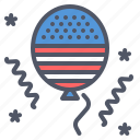 america, american, balloon, celebration, festival, independence day, july 4 icon