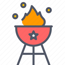 america, american, barbecue, celebrate, holiday, independence day, july 4 icon