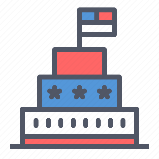 american, cake, celebrate, flag, independence day, july 4th, united states icon