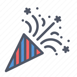 america, american, celebrate, cone, independence day, july 4th, party icon