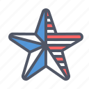 america, american, flag, fourth of july, independence day, july 4th, star icon