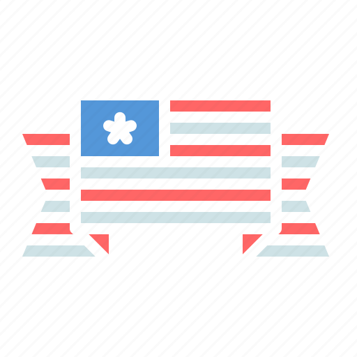 america, american, banner, flag, fourth of july, independence day, july 4th icon