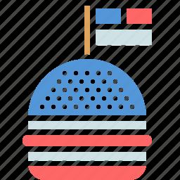 american, burger, celebration, flag, hamburger, independence day, july 4 icon