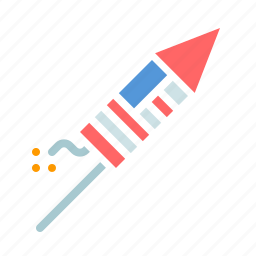 america, american, fireworks, independence day, july 4th, petard, rocket icon