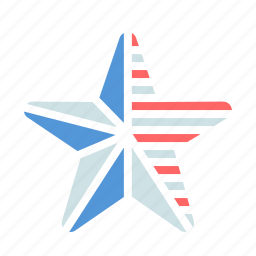 america, american, fourth of july, independence day, july 4th, star icon