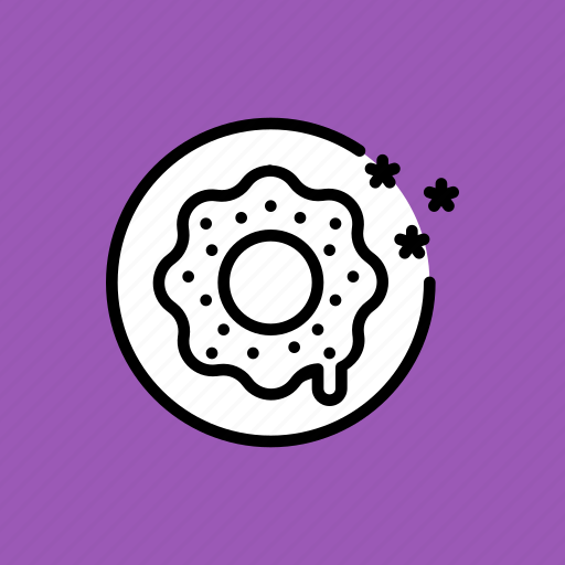 america, celebrate, donut, independence day, july 4, snack, sugar icon