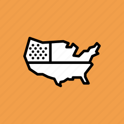 america, american, independence day, july 4th, map, united states, us icon