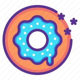 america, celebrate, donut, independence day, july 4th, snack, sugar icon
