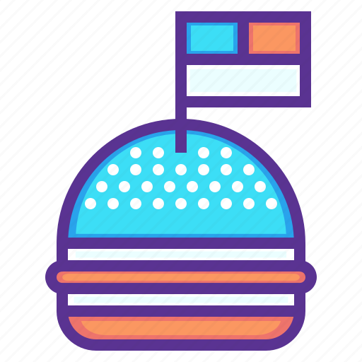 american, burger, celebration, flag, hamburger, independence day, july 4th icon