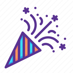 america, american, celebrate, cone, independence day, july 4, party icon