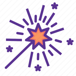 america, american, celebrate, independence day, july 4th, star, wand icon