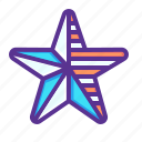 america, american, fourth, fourth of july, independence day, july 4, star icon