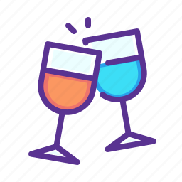america, american, celebrate, independence day, july 4, party, wine icon