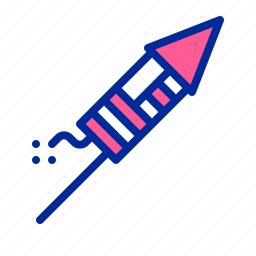 america, american, fireworks, independence day, july 4, petard, rocket icon