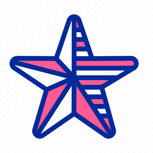 america, american, flag, fourth of july, independence day, july 4, star icon