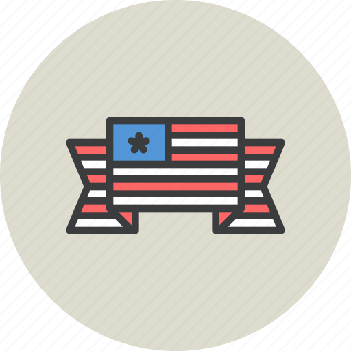 america, american, banner, flag, fourth of july, independence day, july 4 icon
