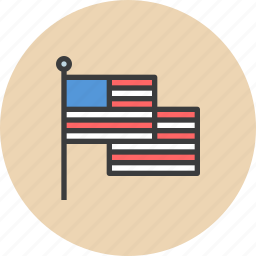 america, american, flag, independence day, july 4th, united states, us icon