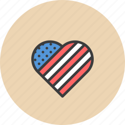 america, american, heart, independence day, july 4, love, patriotism icon