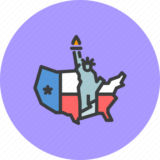 america, american, independence day, july 4, liberty, statue, united states icon
