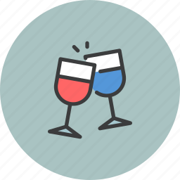 america, american, celebrate, independence day, july 4th, party, wine icon