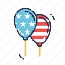 balloon, balloons, celebration, fourth of july, independence day, july fourth, united states icon