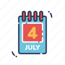 calendar, america, fourth of july, independence day, july fourth, united states