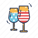 america, drink, fourth of july, glasses, independence day, july fourth, united states icon