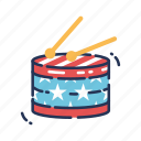 america, drum, fourth of july, independence day, instrument, july fourth, music icon